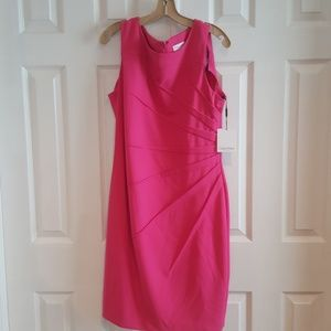 Calvin Klein dress hot pink NWT SIZE 14